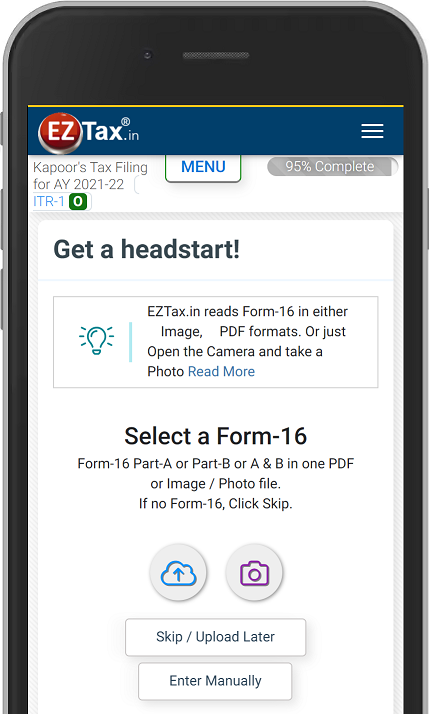Get EZTax.in ITR Filing App for AY 2021-22 on Google Play Android
