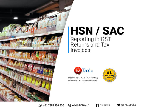 HSN/SAC code requirement with GST Return and Invoices