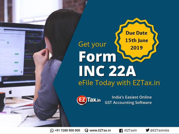 INC 22A ACTIVe Form Filing