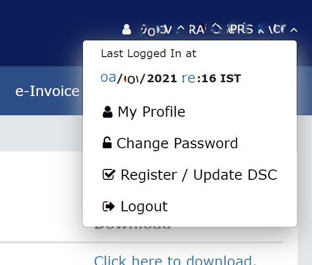 Register Update DSC