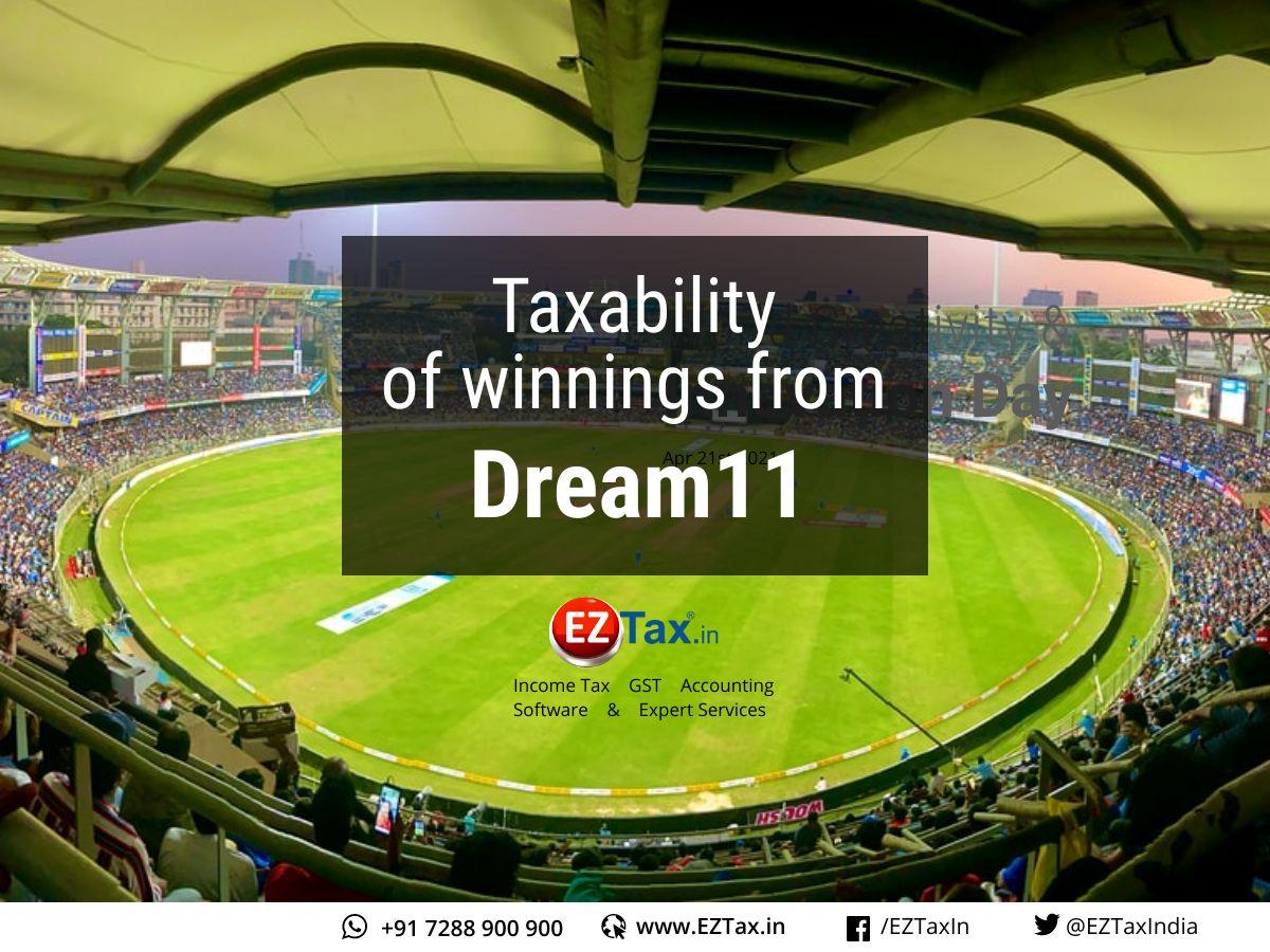 Taxability of winnings from Dream11 or Online Gambling